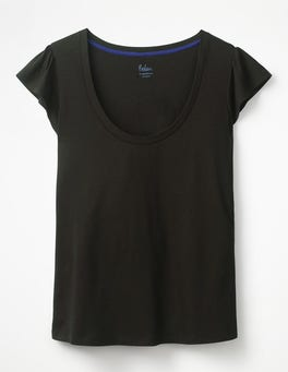 Black Supersoft Flutter Tee