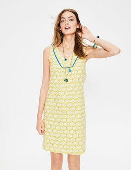 Citrus Yellow Shell Tarifa Jersey Dress