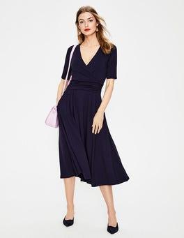 Navy Kassidy Jersey Midi Dress