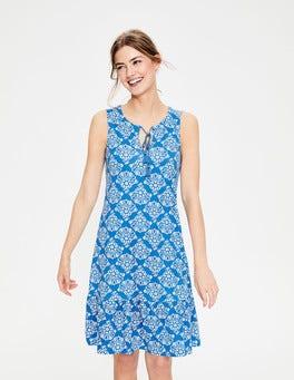 China Blue Floral Bouquet Arabella Jersey Dress