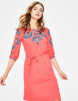 Leyla Embroidered Jersey Dress