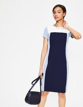 Navy/Hazy Sky Jeanette Ottoman Dress