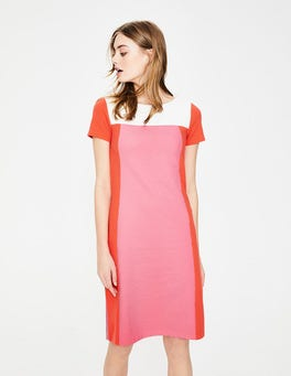Azalea/Red Pop Jeanette Ottoman Dress