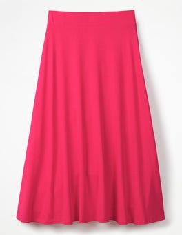 Carnival Pink Jersey Midi Skirt