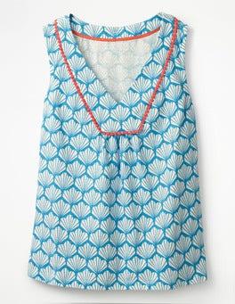 Cerulean Blue Shell Tarifa Jersey Top