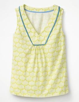 Citrus Shell Tarifa Jersey Top