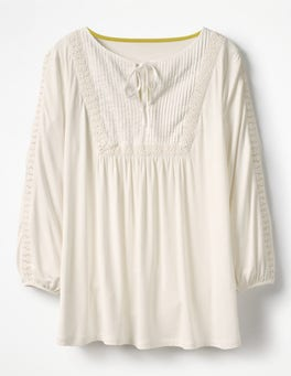 Ivory Anna Jersey Top
