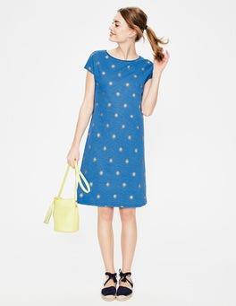 Meeresblau, Goldene Tupfen Paulina Jerseykleid