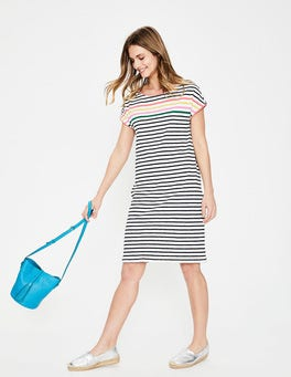 Rainbow Multi Stripe Paulina Jersey Dress