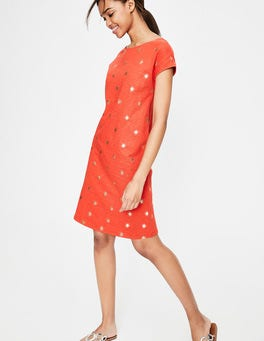 Blood Orange Spaced Primrose Paulina Jersey Dress