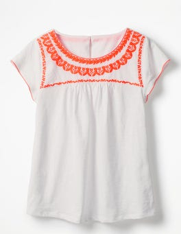 White Ferne Jersey Top