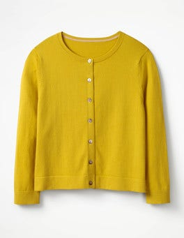 Mimosa Yellow Favourite Crop Crew Cardigan