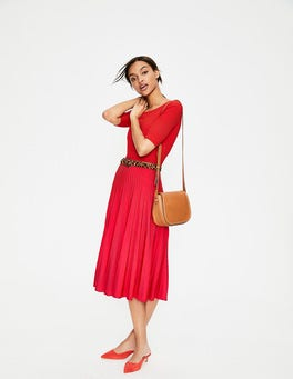 Red Pop Brione Knitted Dress