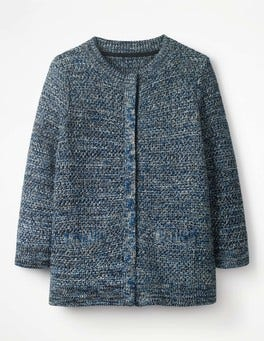 Navy Colour Pop Cardigan