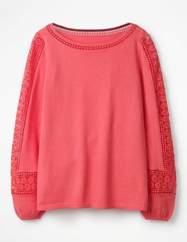 Coral Sunset Lylah Lace Jumper