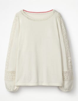 Ivory Lylah Lace Sweater