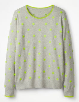 Silver Melange Spot Interest Jumper