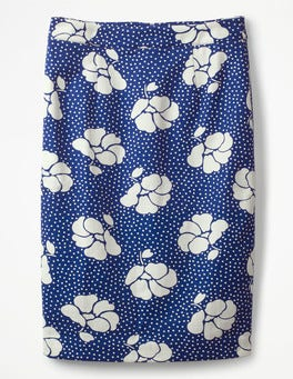 Greek Blue, Primrose Large Martha Skirt