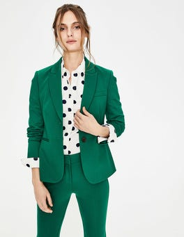 Sap Green Elizabeth Ponte Blazer