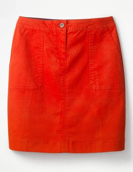 Red Pop Chino Skirt
