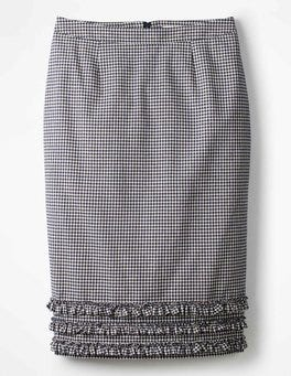 Navy Gingham Ava Pencil Skirt