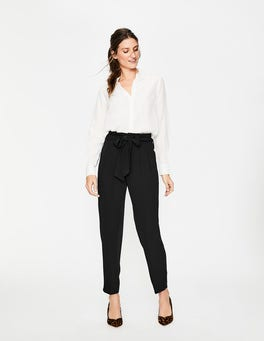 Black Melina Paperbag Trousers
