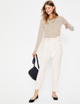 Ivory Melina Paperbag Trousers