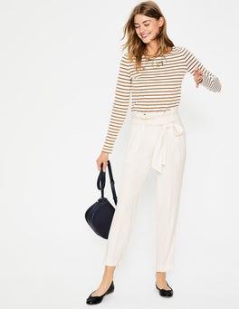 Ivory Melina Paperbag Pants