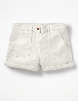 White  Karin Shorts