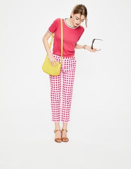 Bright Pink Gingham Richmond 7/8 Pants