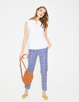 Greek Blue, Daisy Chain Richmond 7/8 Trousers
