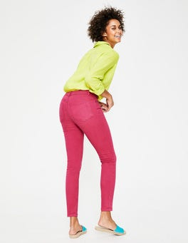 Bright Pink Cropped Soho Skinny Jeans