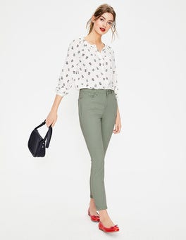 Light Olive Cropped Soho Skinny Jeans