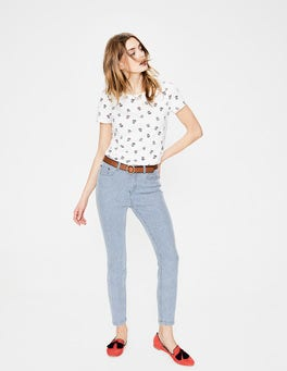 Ticking Stripe Cropped Soho Skinny Jeans