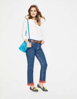 Mid Vintage with Trim Cambridge Ankle Skimmer Jeans