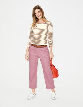 Rose Rachel Wide Crop Chino Trouser