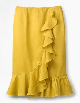Mimosa Yellow Neve Linen Skirt