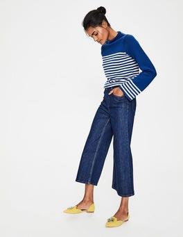 Gewaschenes Indigo Die York Jeans mit verkürztem Schnitt