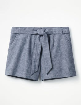 Faux-Uni/Blau Cora Shorts