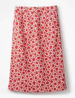 Rosehip, Summer Leaves Modern A-line Skirt