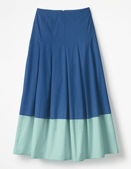 Riviera Blue with Ripple Lynne Colour Block Skirt