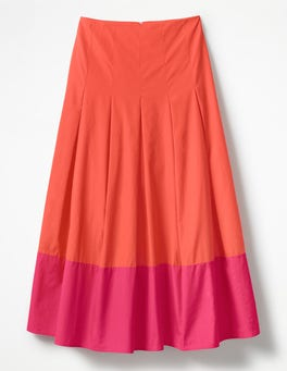 Rosehip with Bright Pink Lynne Colour Block Skirt