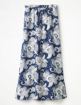Blue Paisley Garden Juliette Maxi Skirt