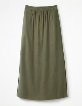 Khaki Juliette Maxi Skirt