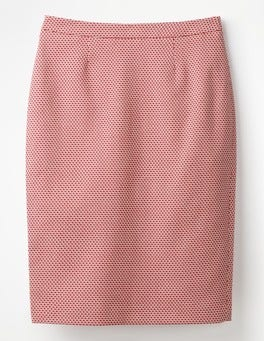 Post Box Red Canonbury Pencil Skirt