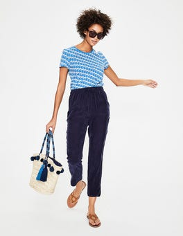 Navy  Lottie Trousers