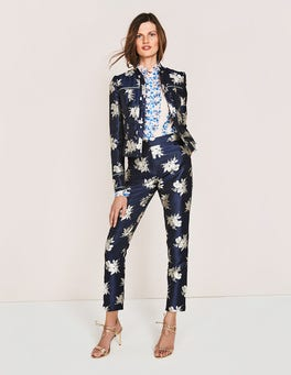 Navy Wild Bloom Mono Mariana 7/8 Trousers