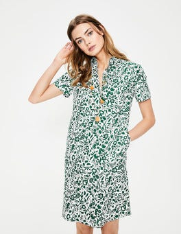 Sap Green Folk Eleanor Dress