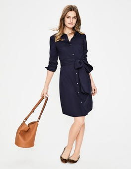 Navy Modern Shirt Dress
