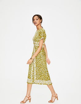 Mimosa Yellow Random Spot Esmeralda Dress